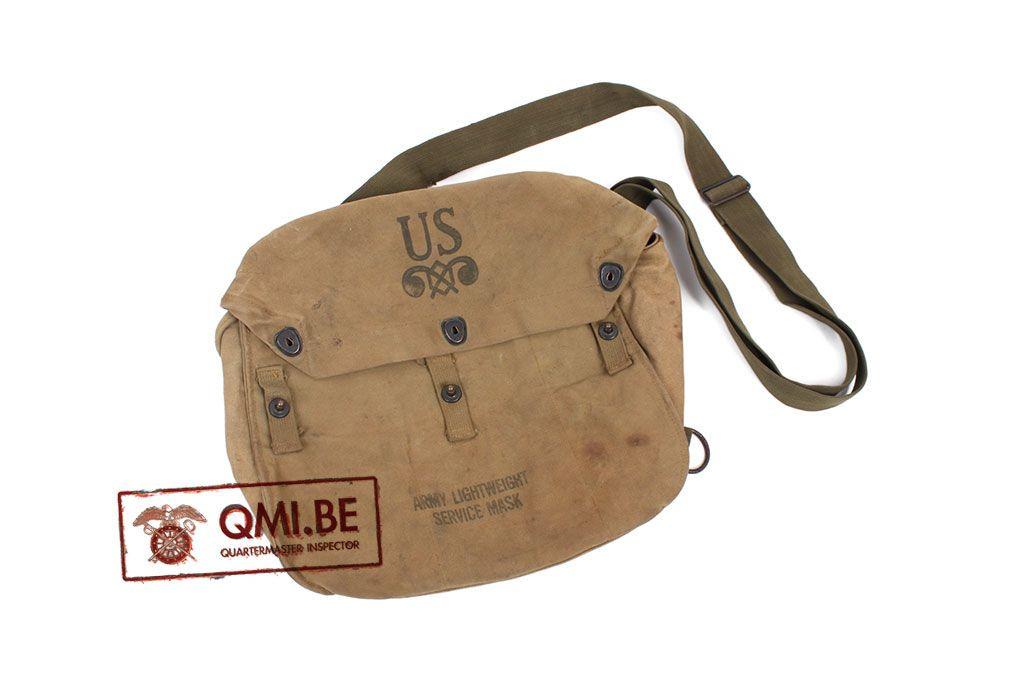 Original US WW2 M6 Army lightweight service gasmask bag