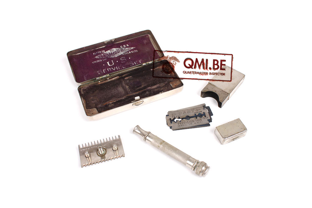 Original US WW2, Gillette Shaving Razor, US Service Set, Chromed Case