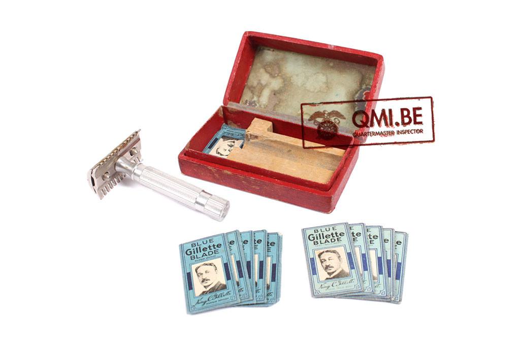 Original US WW2, Razor + 10 Blue Gilette blades