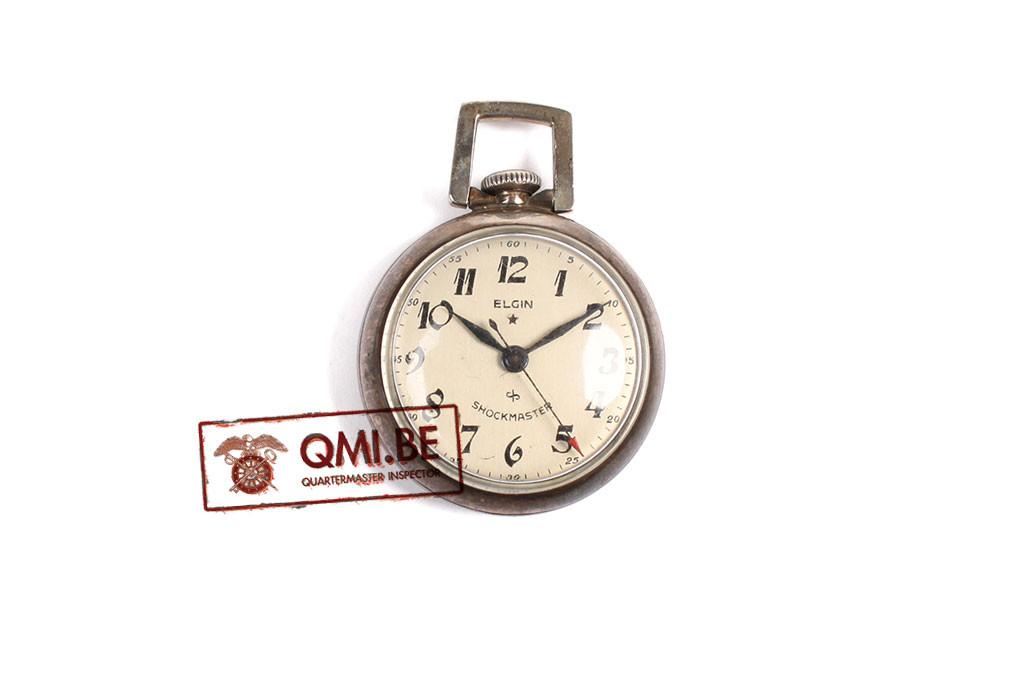 Original US WW2, Nurse Pocket Watch, Elgin Shockmaster, Sterling Case