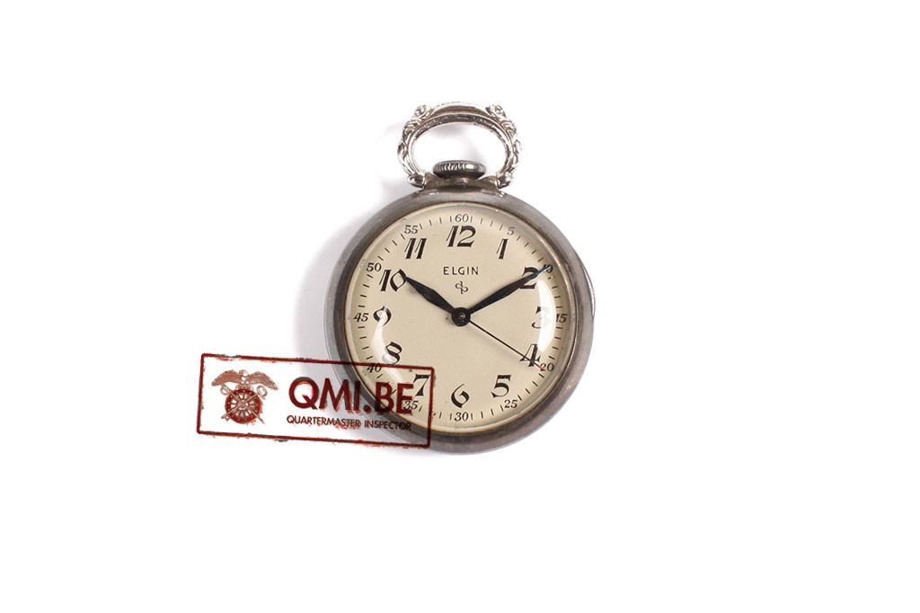 Original US WW2, Nurse Pocket Watch, Elgin, Sterling Silver Case