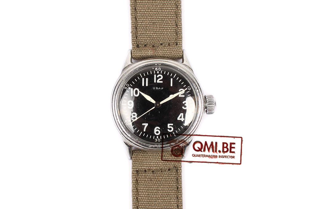 Original WW2 USAAF Type A-11 Watch by Elgin, 1943 (OD strap)