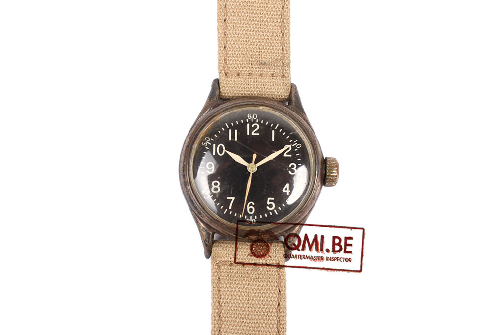 Original WW2 USAAF Type A-11 Watch by Bulova, 1943 (Khaki strap)