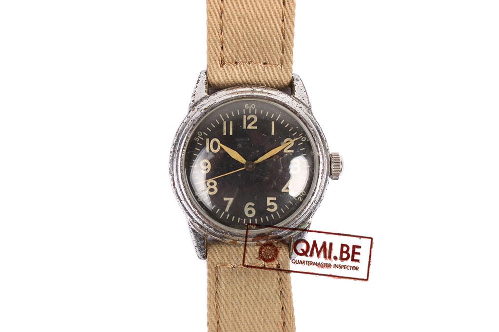 Original WW2 USAAF Type A-11 Watch by Elgin, 1942 (Khaki strap)