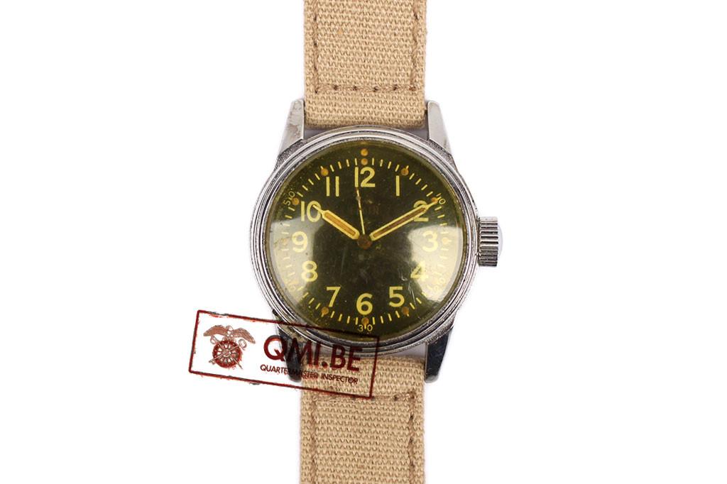 Original WW2 USAAF Type A-11 Watch by Elgin, 1943 (Khaki strap)