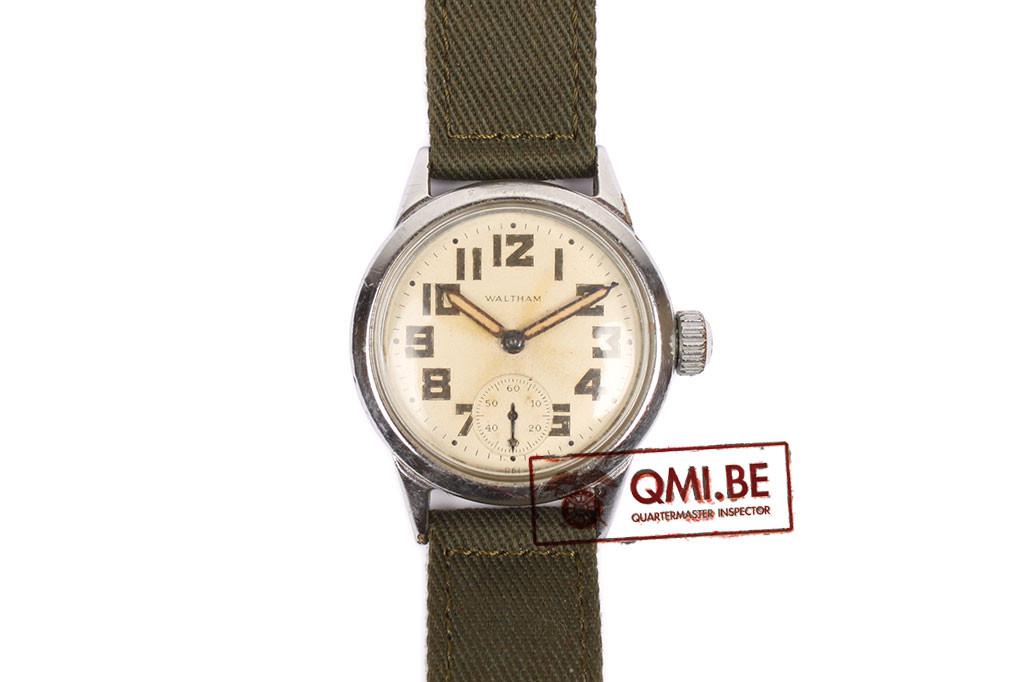 Original WW2 US Army Watch by Waltham, OG grade, Late war