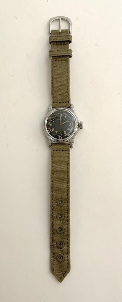 WW2 USAAF Type A-11 Watch by Waltham, 1945 (OD strap)