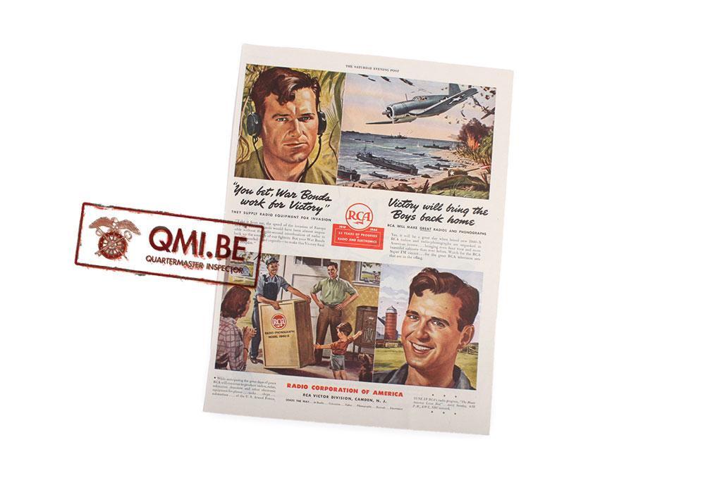 "Orig. WW2 advertisement ""RCA, Radio and Electronics"""