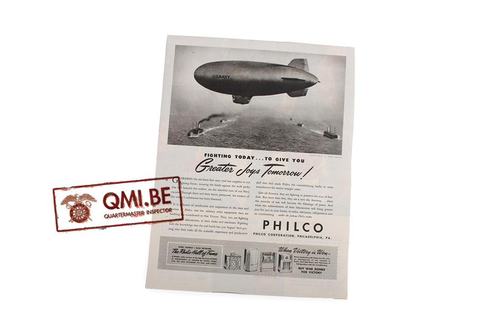 """Orig. WW2 advertisement """"Philco"""""""
