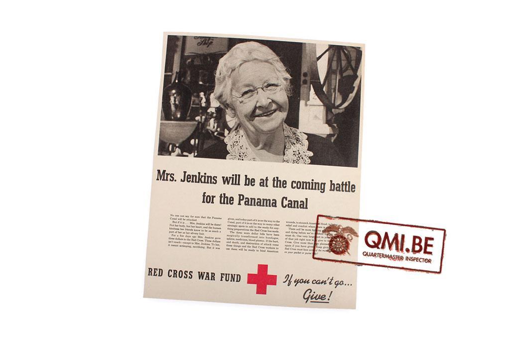 "Orig. WW2 advertisement ""Red Cross War Fund, Mrs. Jenkins…"""