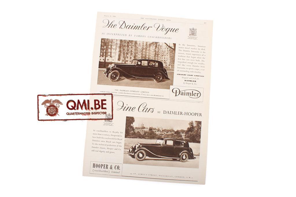 "Orig. WW2 advertisement ""Daimler, Fine Cars"""