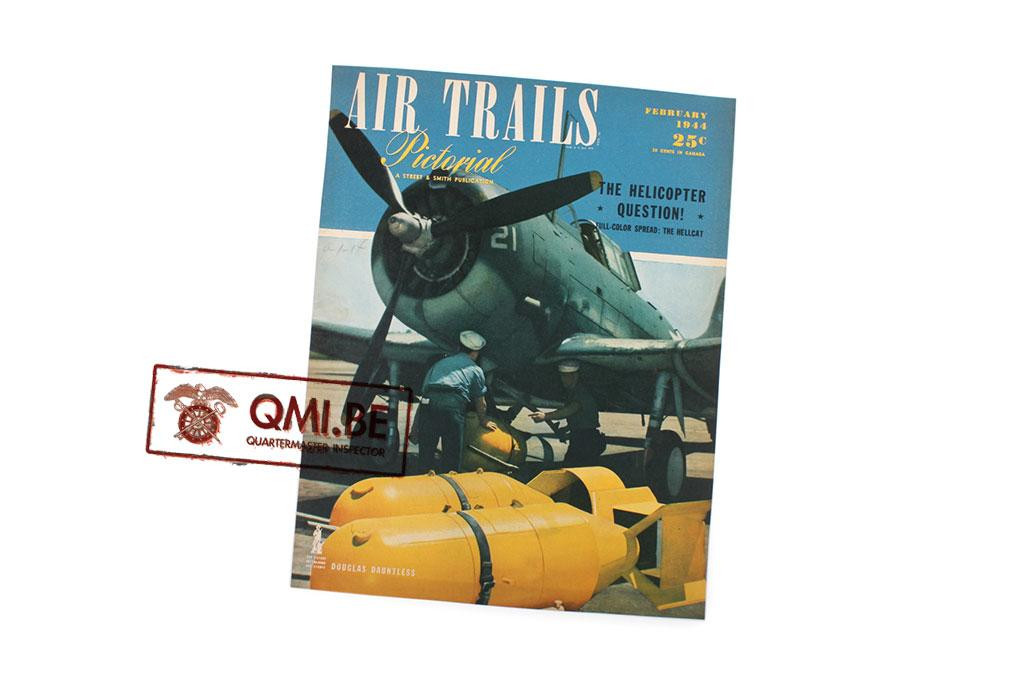 """Orig. WW2 ad. """"Air Trails, February 1944"""""""