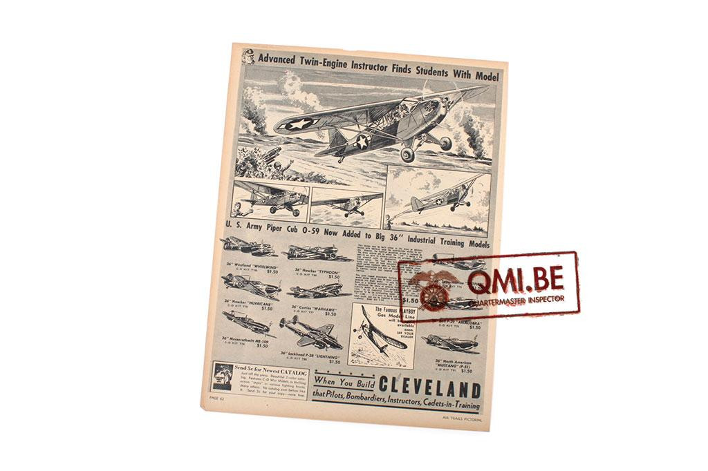 "Orig. WW2 ad. ""Cleveland Models, Advanced Twin-Engine…"""