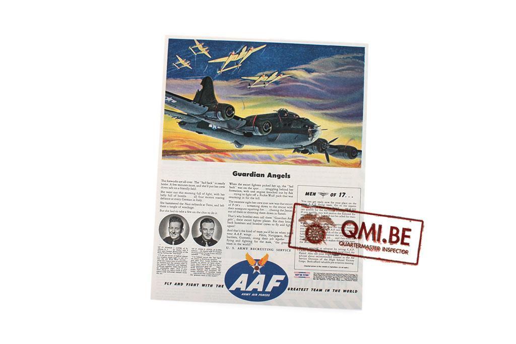 "Orig. WW2 ad. ""AAF, Guardian Angels"""