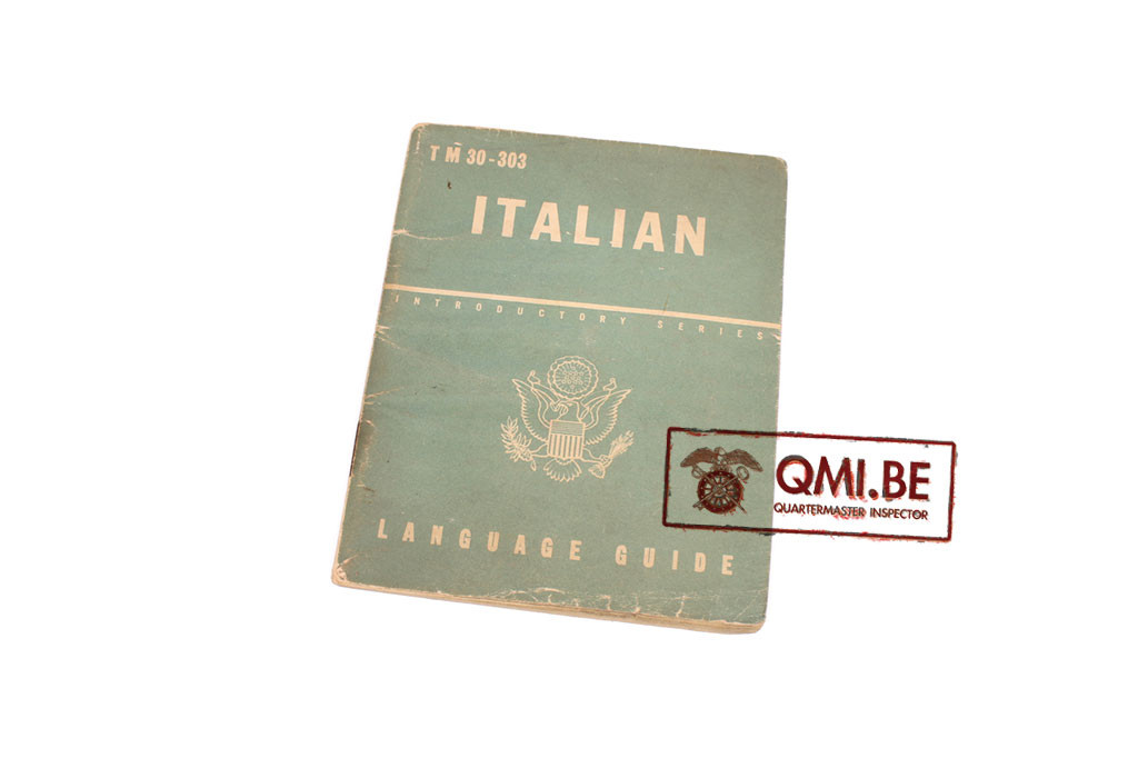 Original US WW2, Italian Language Guide, Dated June 2, 1943