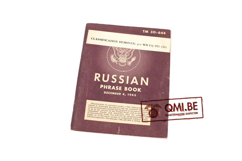 Original US WW2, Russian Phrase Book, December 4, 1943
