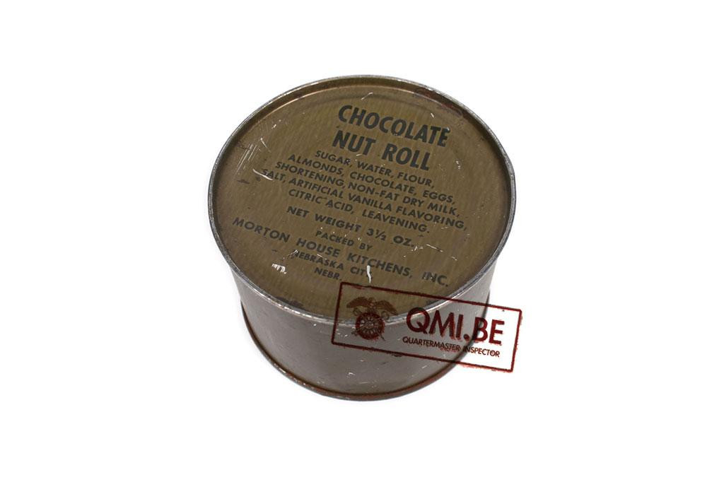 Can, Chocolate Nut Roll (Dated 1971)