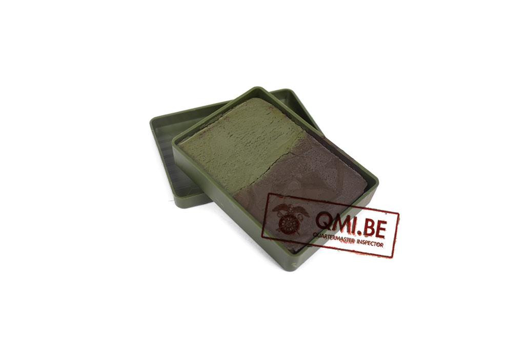 Face paint, 2 colors (Green / Brown) NOS, Dutch army