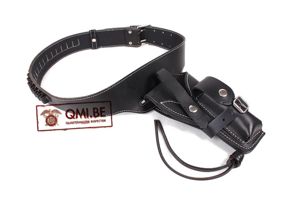 US Vietnam ARVN, Black Leather Holster + Belt w/ Ammo loops