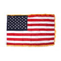 Flag, U.S. 50 stars, embroidered, Gold fringe border