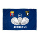 Flag, 82nd / 101st Airborne (Blue)
