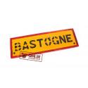 Wooden road sign, Bastogne