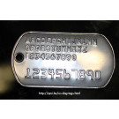 U.S. Dog Tags (Late style) - All possible characters