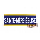 Sign, Road, SAINTE MÈRE EGLISE, Enameled (50 x 18 cm)
