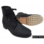 German Black Low Boots with Hobnails with Heavy Duty Soles