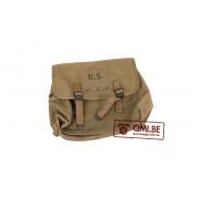 Original US WW2 Rubberized M1936 Musette Bag made by Myrna Shoe Inc., 1943