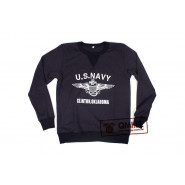 "Sweater, Blue, ""U.S. NAVY, Clinton, Oklahoma"""
