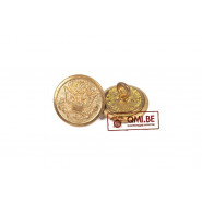 Button, Service Coat, Brass (16 mm)