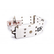 Pistol belt, M-1936, White (MP) Military Police.