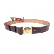 Officers leather garrison belt w/ brass US buckle