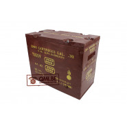 Wooden Ammo Crate (Cal..30 8RD. Clips Bandoleers)