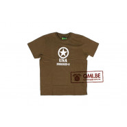 T-shirt, Allied Star, USA, (Olive)