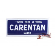 Sign, Road, CARENTAN, Enameled (48 x 20 cm)