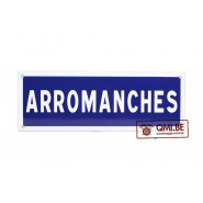 Sign, Road, ARROMANCHES, Enameled (50 x 20 cm)