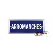 Sign, Road, ARROMANCHES, Enameled (25 x 10 cm)