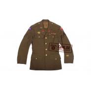 US WW2 orig. Class-A jacket, PVT 1st Class, size 35R
