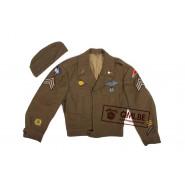 "US WW2 orig. ""IKE"" jacket with cap"