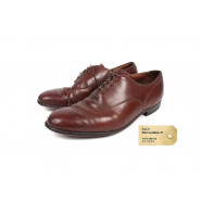 Dress shoes, Brown, Post-war, Used, size 9 pair #1