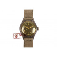 Original WW2 USAAF Type A-11 Watch by Bulova, 1944 (OD strap)