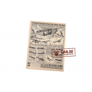 "Orig. WW2 ad. ""Cleveland Models, Advanced Twin-Engine…"""