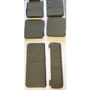 Seats, set for Willys MB & Ford Jeep , included fitting kit and no hip pads