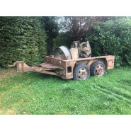 US WW2 M17 Trailer with M45 Quadmount with M20 Trailer