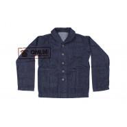 U.S. Navy Shawl Collar Denim Work Jacket