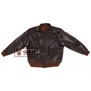 Type A-2 Leather Flight Jacket (Seal Brown Horsehide)