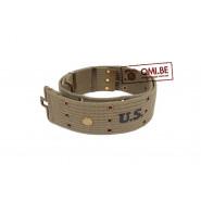 Pistol belt, M-1936, OD NO. 7 (Brass eyelet)