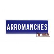 Sign, Road, ARROMANCHES, Enameled (50 x 20 cm)